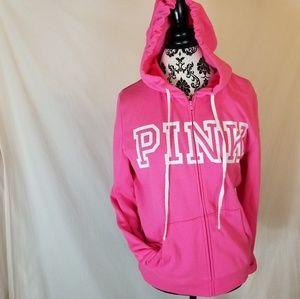 PINK Victoria's Secret Logo Perfect Zip Hoodie New